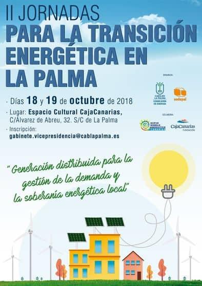 El Cabildo de La Palma organiza las `II Jornadas para la transición energética de la Isla´